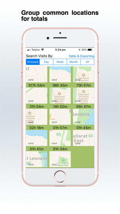 Screenshot for Visits Logger in United States App Store