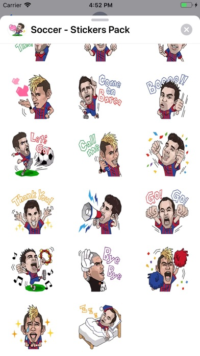 Screenshot of Soccer - Stickers Pack App