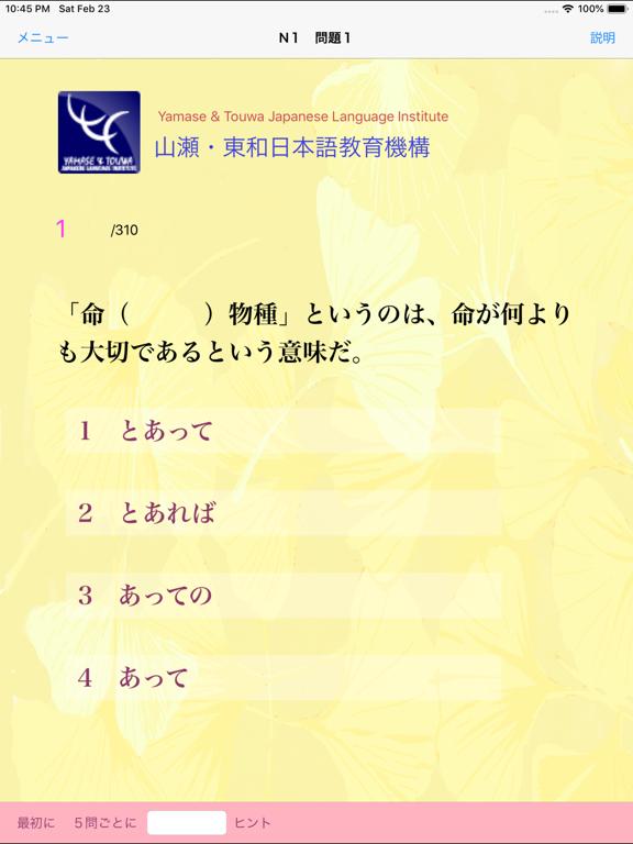 N1 文法問題集 screenshot 8