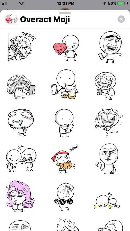 Overact Moji Animated Stickers