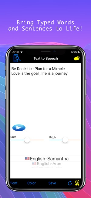 ‎Speech Recognizer , text to speech with animated stickers in one pack