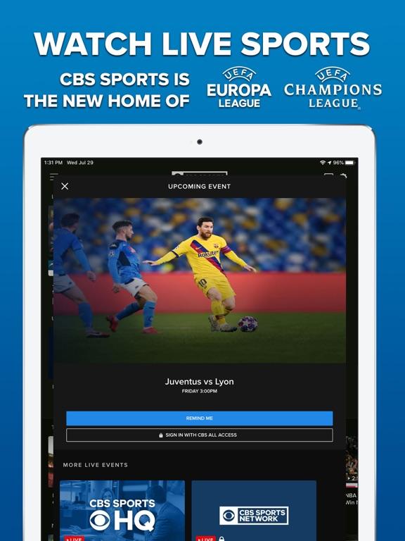 CBS Sports screenshot