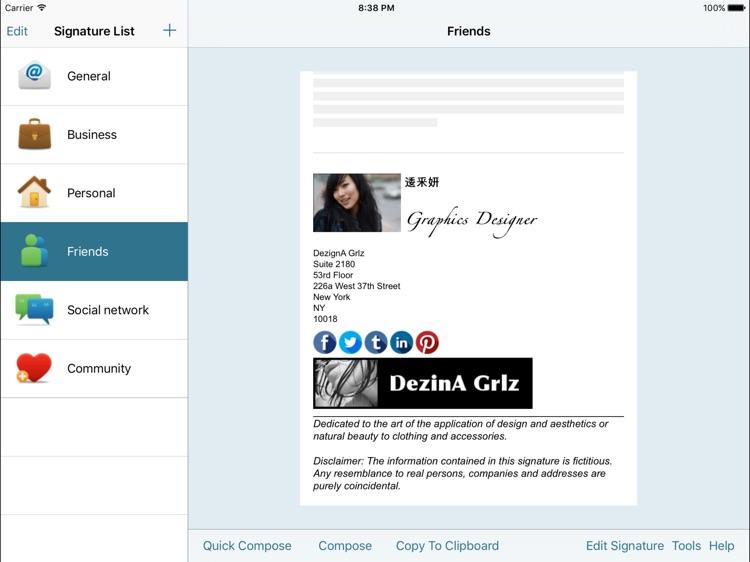 Email Signature EnterpriseiPad