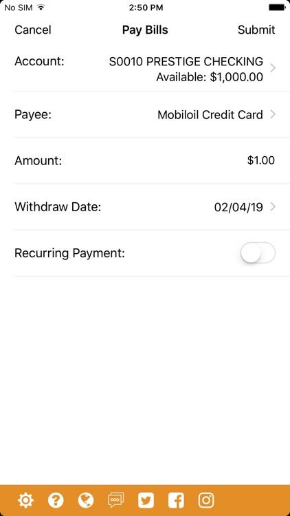 Mobiloil CU Mobile App screenshot-4