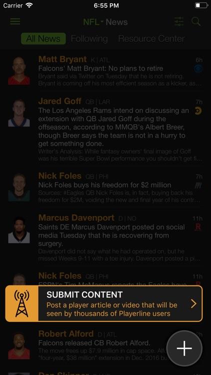 Playerline Fantasy Sports News screenshot-6