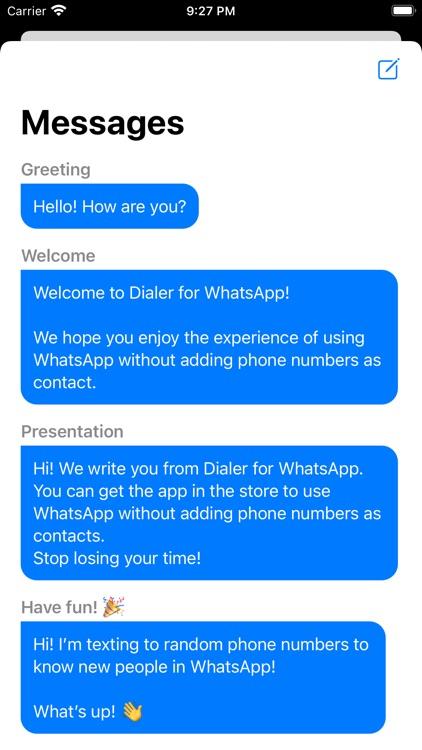 Dialer for WhatsApp - Direct screenshot-3