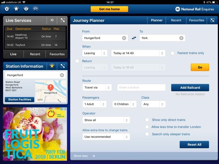 NationalRailEnquiries for iPad screenshot-4