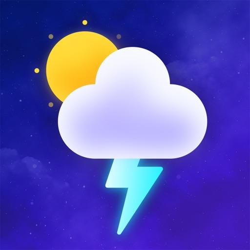Dark Weather Sky Alert Widget
