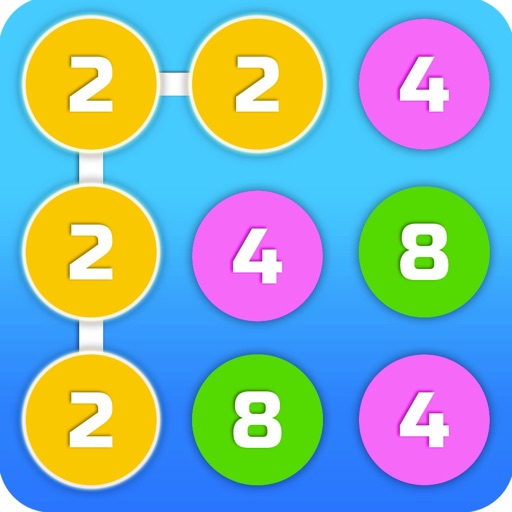 2-4-8 : link identical numbers