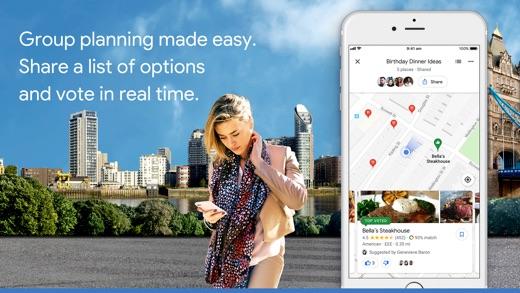 Google 地图 App 截图