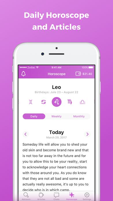 Zodiac Touch - psychic reading Screenshot