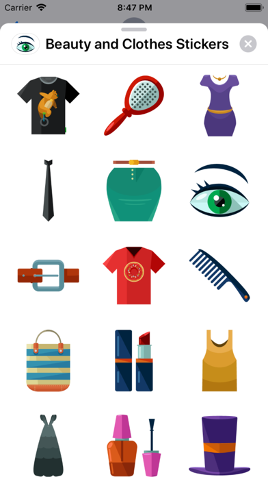 Beauty and Clothes Stickers app image