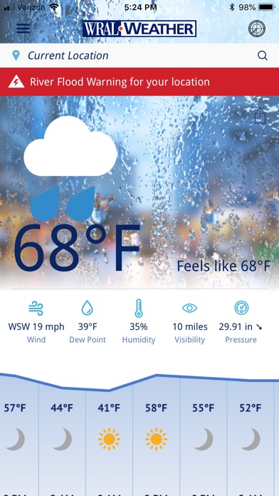 Screenshot for WRAL Weather in United States App Store