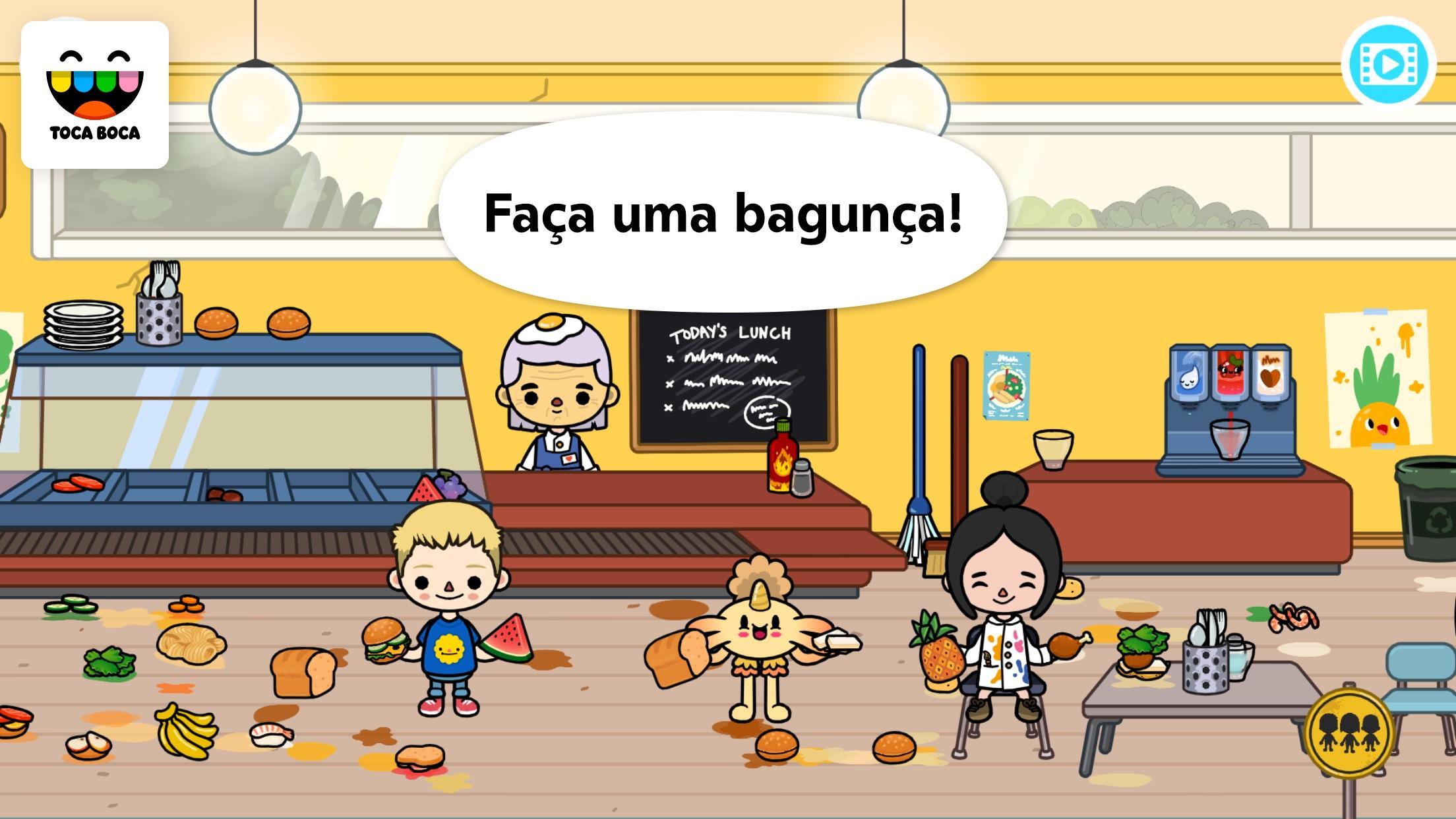 Screenshot do app Toca Life: School