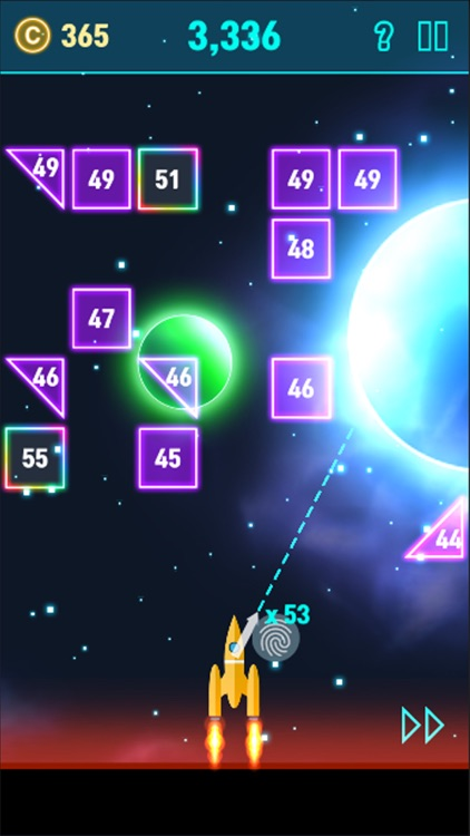 NeonSpace: Brick Breaker Plane screenshot-8