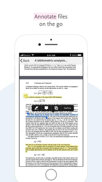 Mendeley (PDF Reader) screenshot-4