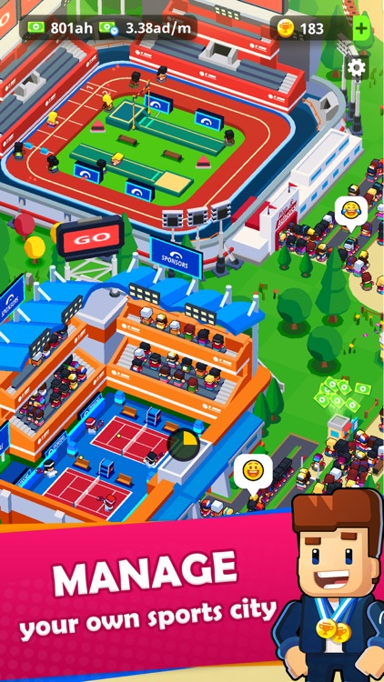 Sports City Tycoon: Idle Game screenshot-0