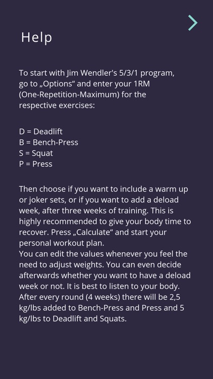 5-3-1 workout calculator screenshot-6