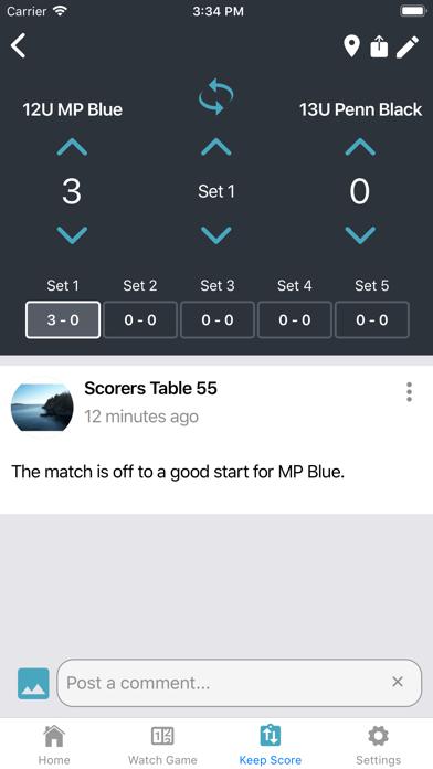 Bleacher Scoring – Volleyball 1