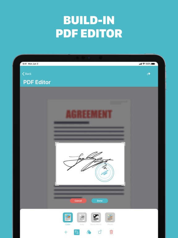 Ipad Screen Shot PDF Scanner - Scanly 3