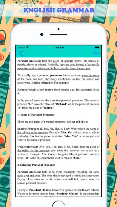 English Pronouns: Exercises Screenshots