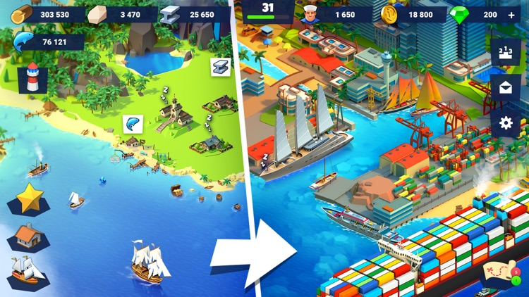 Sea Port: City Ship Tycoon screenshot-0