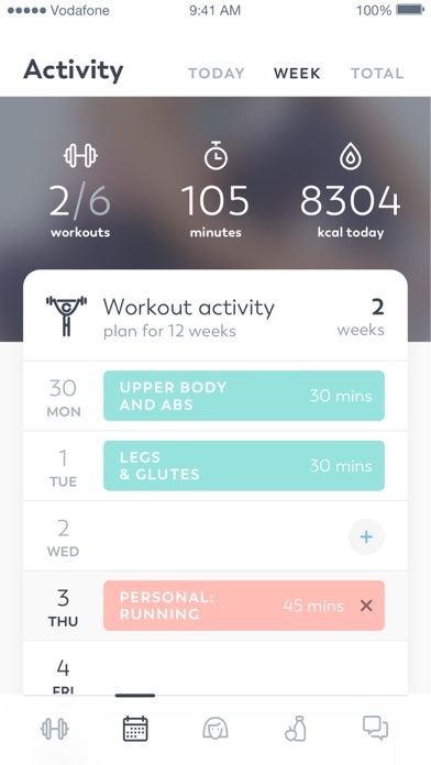 Screenshot for Workout for Women in Colombia App Store