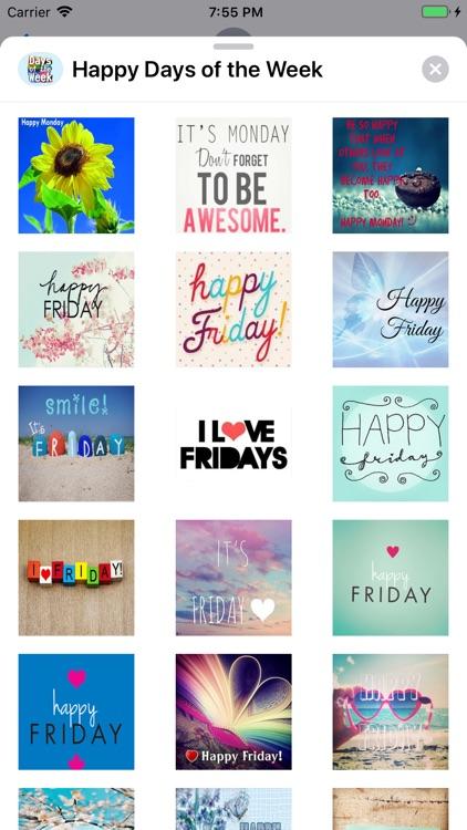 Happy Days of the Week Wishes screenshot-5