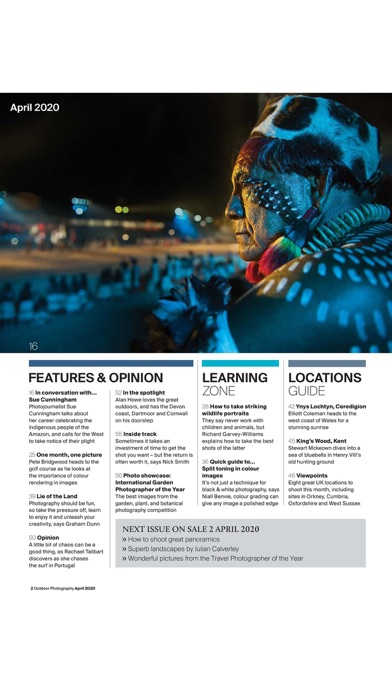 Outdoor Photography - The leading magazine for landscape, wildlife and travel photographers! screenshot