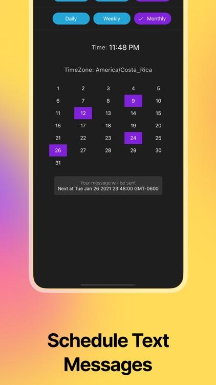 AutoText - Scheduled Message screenshot-3