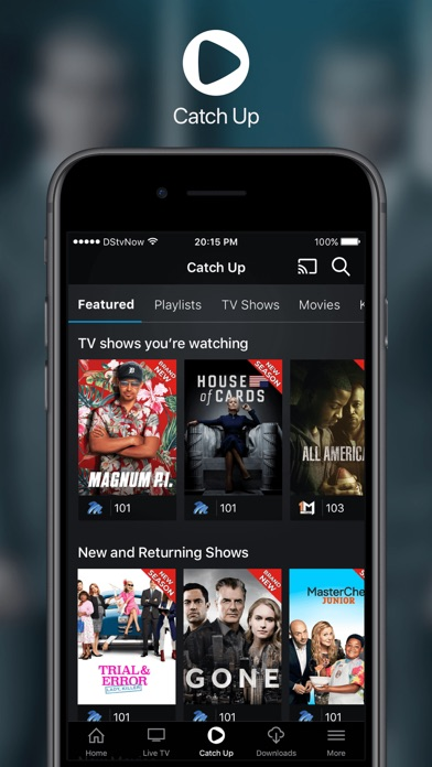 Screenshot for DStv Now in South Africa App Store