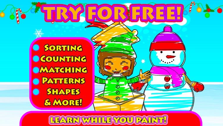 Xmas Coloring for boys & girls screenshot-4