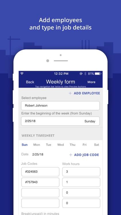 Timesheet Manager App screenshot-3