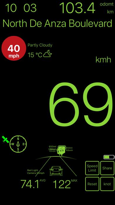 速度計mph kmh gpsベースのおすすめ画像5