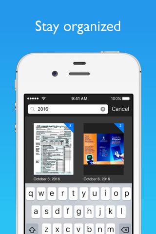 Screenshot of JotNot Scanner App Pro