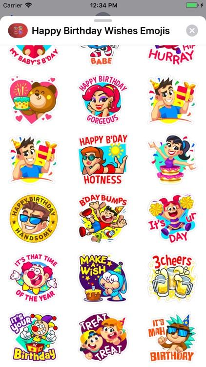 Happy Birthday Wishes Emojis screenshot-9