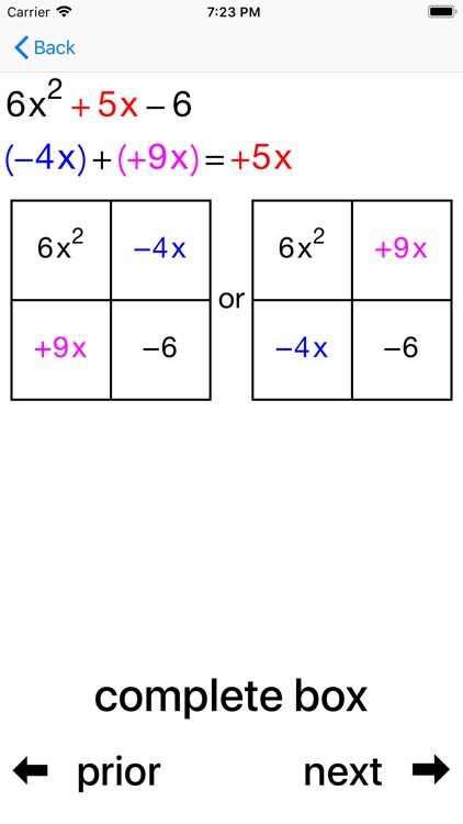Quadratic Factoring screenshot-4