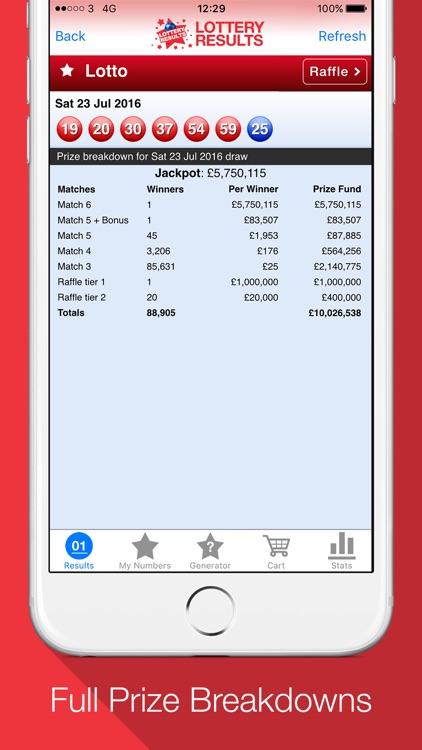 Lottery Results - Ticket alert screenshot-3