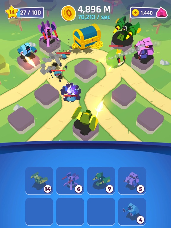 Merge Tower Bots screenshot 10