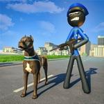 Stickman Police Dog Chase