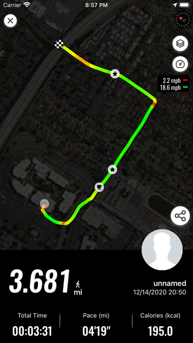 MyTracks. Screenshots