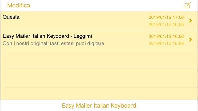 Easy Mailer Italian Keyboard screenshot-3