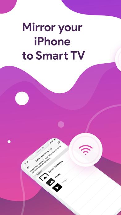 Screen mirroring for Smart TV Screenshot
