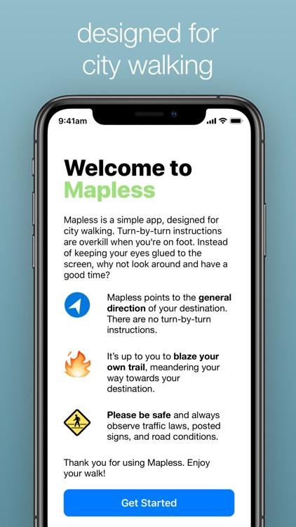 Mapless Walking Directions screenshot-3