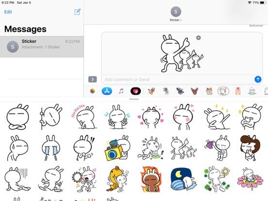 Rabbit Funny Emoji Stickers screenshot 5