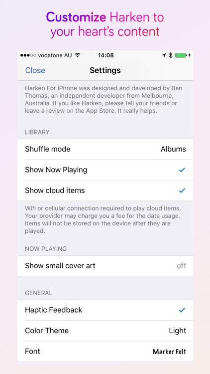 Harken Music Player For iPhone
