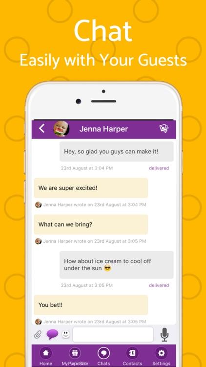 Text Invite Maker: PurpleSlate screenshot-4
