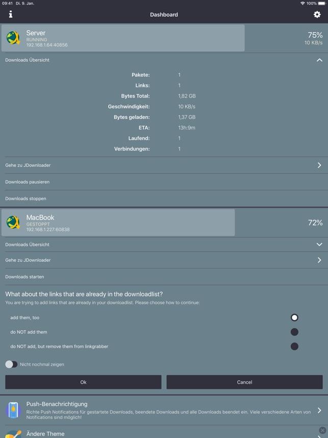 MyJDownloader Remote im App Store