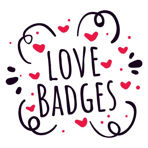 Valentine Love Badges
