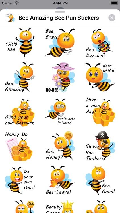Bee Amazing Bee Pun Stickers screenshot-4
